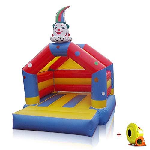 Zhihao Kind Clown aufblasbare Hüpfburg for Kinder Türsteher Springen Spielhaus Fun Center for Outdoor Indoor Umweltschutz PVC-Material mit elektrischem Gebläse Spielzeug