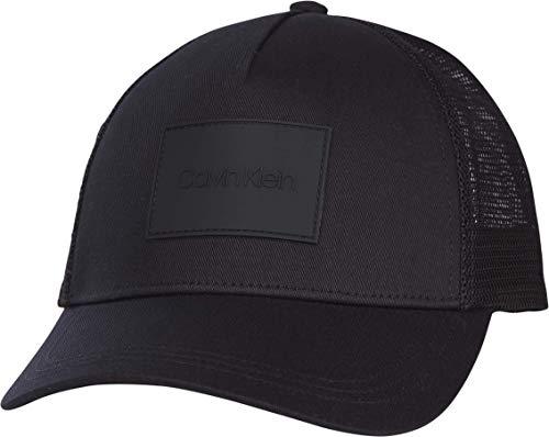 Calvin Klein Trucker Gorra de bisbol, CK Negro, One Size para Hombre