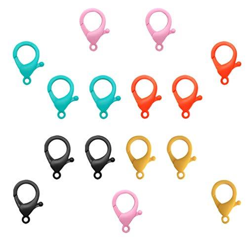 HEALLILY 50 cierres de langosta, cierres de garra de langosta, para bricolaje, joyería, para hacer joyas, resultados, color aleatorio