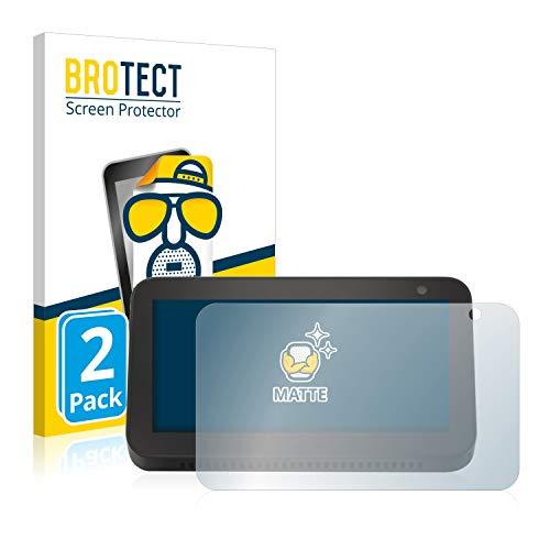 BROTECT Protector Pantalla Anti-Reflejos Compatible con Amazon Echo Show 5 (3a generación) (2 Unidades) Pelicula Mate Anti-Huellas