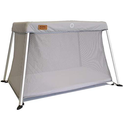 Venture Airpod Travel Cot Includes Foam Mattress and Carry Bag 100 x 60cm (Silver)