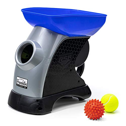 Franklin Pet Ready Set Fetch Automatic Tennis Ball Launcher Dog Toy - Official Size Tennis Ball Thrower - Interactive Toy