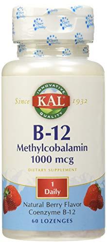 KAL Metilcobalamina Vitamina B12 1000 mcg, 60 Comprimidos