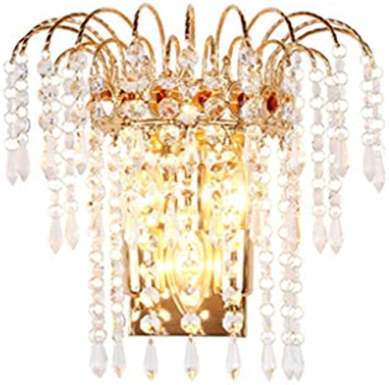 SACYSAC Wandlampe Goldkristallwandlampe Wohnzimmer Gangwandlampe Schlafzimmer Nachttischlampe