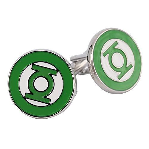 jiao Green Lantern Manschettenknopf Stahl Mode Manschettenknöpfe Hochzeit Herren Custom Emaille Manschettenknöpfe