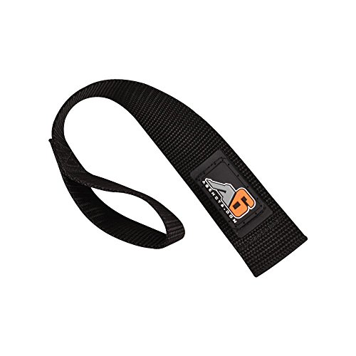 Agency 6 Winch Hook Pull Strap - Solid Black - 1.5 INCH Wide - Heavy Duty - Made in The U.S.A.