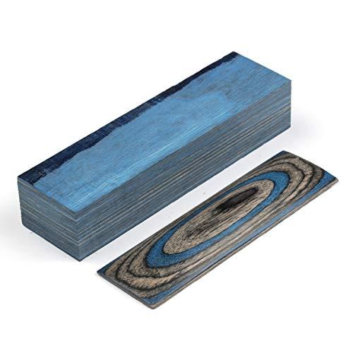 Aibote 1 Stück Farbe Holz Messer Griffe Material Griff Teile Griffe Messer Custom DIY Werkzeug für Messer Herstellung blanker Klingen (150 x 40 x 30 mm), Blue Gray