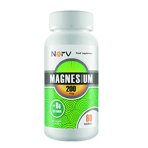 Magnesium Citrate & B6 Vitamin Supplement | 60 Tablets for 2 Month Supply of Magnesium Tablets