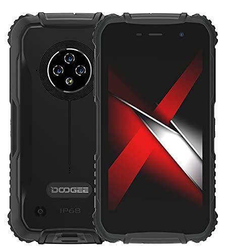4G Móvil Resistente DOOGEE S35, Android 10 IP68 Smartphone Libre Antigolpes, 2GB+16GB(Compatible con Tarjeta SD 256GB), 5.0'' HD+, Cámara Triple 13MP, Dual SIM, Desbloqueo Facial GPS WiFi Negro
