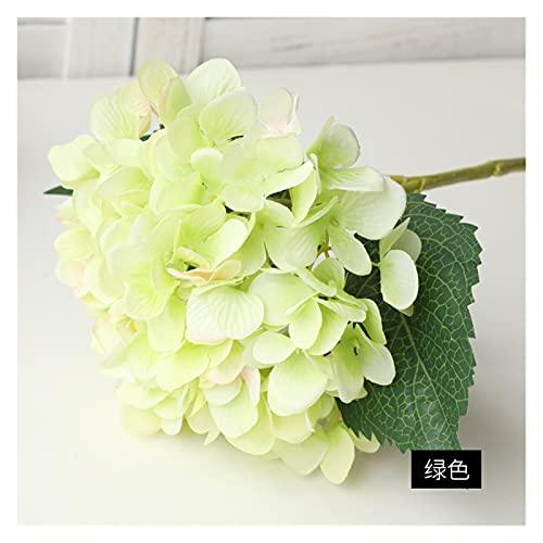 Piante Artificiali Ramo di Ortensia Artificiale Seta Fiore Falso Matrimonio da Sposa Festa di Famiglia Compleanno Decorazione Floreale di San Valentino .Fiori Artificiali Erba (Color : 10)