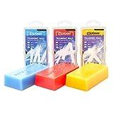 XCMAN Alpine Ski Snowboard Nodic Wax for All Temperature Snow (200g/0.44lb Each) and Waxing Scraper and PTEX Metal Scraper