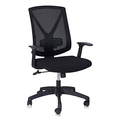 CLATINA High Back Mesh Office Desk Chair with Lumbar Support for Home Teens Computer Task Black 1 Pack