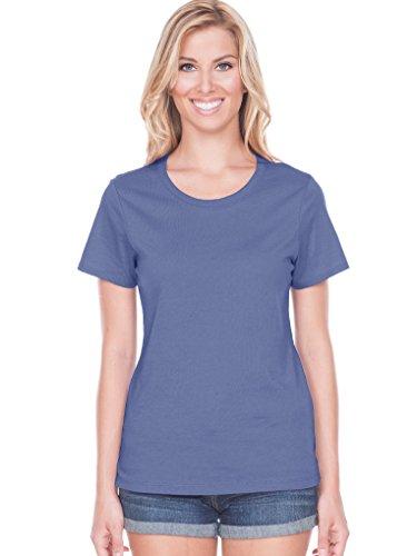 Kavio! Women Crew Neck Short Sleeve Top Periwinkle XL