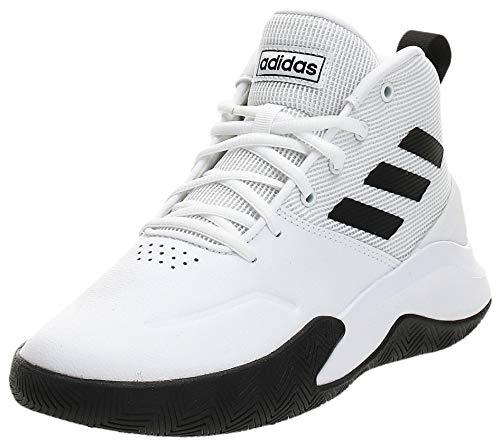 adidas Jungen Ownthegame Sportschuhe, Blanc Noir Blanc, 42 EU