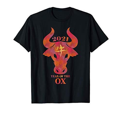 2021 année du style grunge de conception d'aquarelle de T-Shirt