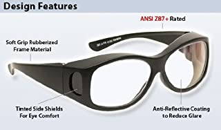 Anti-Reflective Fitover Safety Glasses Clear Lens