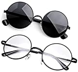 Trendy round stylish shape top class fashion choice for spectacle Reading glasses easily replacable lenses with prescription lenses Medium size one size fits for all faces wear everywhere: school, college, office, gym, classes, dating, reading