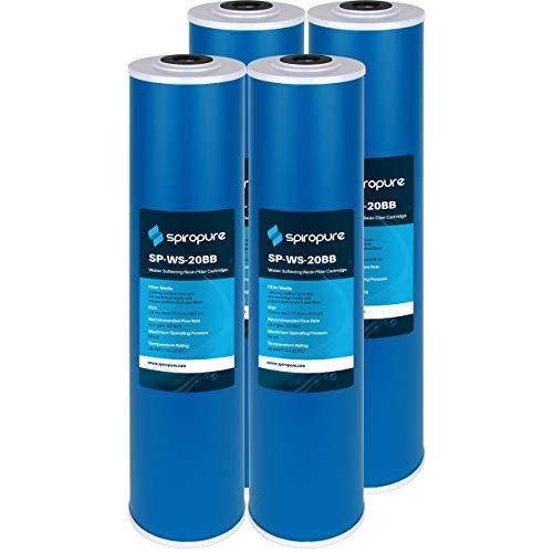 SpiroPure Replacement for 20x4.5 Pentek WS-20BB 155321-43 Water Softening Filter Cartridge (4 Pack)