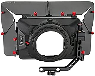 CAMTREE-MB-20 Swing Away Wide Angle Matte Box Sun Camera Hood for 15mm Rail Rod System Video DSLR Cameras (C-MB-20)