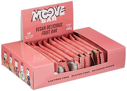 Moove Bar - Vegan Delicious Fruit Riegel auf Schokoladenbasis - Gemischte Aromen - (18x 30g)