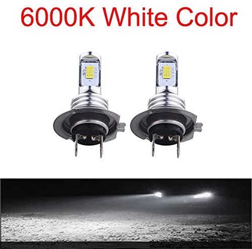 2x Blanco CSP-Fichas LED LED LED FOG FOG BULBS AUTO LÁMPARA AUTOMÁTICA BOMBUJOS LED FOG LIGHT ACCESORIOS DE COCHE 8000LM 6000K H3 H7 H4 H11 ( Emitting Color : 6000K , Socket Type : H4/9003/HB2 Hi/Lo )