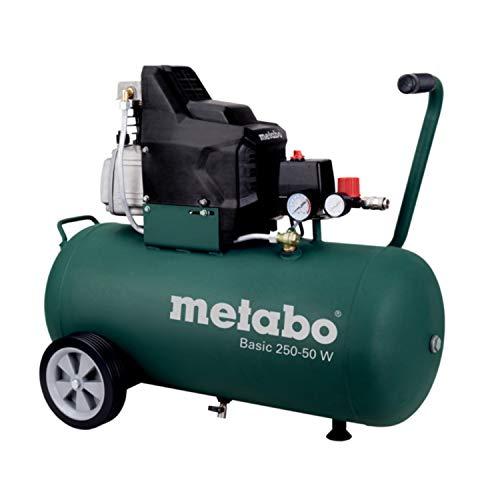 Metabo Kompressor Basic Basic 250-50 W (601534000) Karton, Ansaugleistung: 200 l/min, Füllleistung: 110 l/min, Effektive Liefermenge (bei 80% max. Druck): 95 l/min