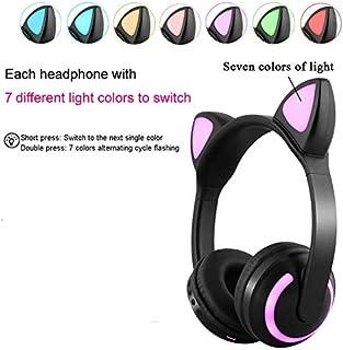 Ocamo Bluetooth - Auriculares estéreo para Gato con luz LED