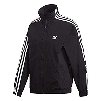 adidas Originals Women's Lock Up Track Top Jacket, black, Medium