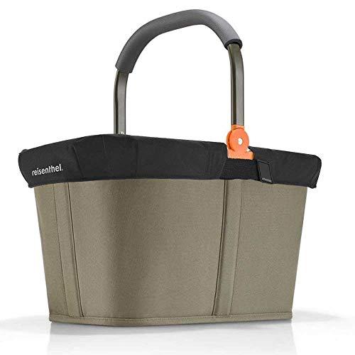 reisenthel Angebot Einkaufskorb carrybag Plus passendes Cover Sichtschutz Abdeckung (Frame Olive Green)