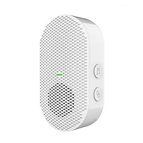 Huante - Timbre inalámbrico con emisor de timbre de timbre para interfono de emergencia en casa con modos de música para timbre de vídeo, toma UE
