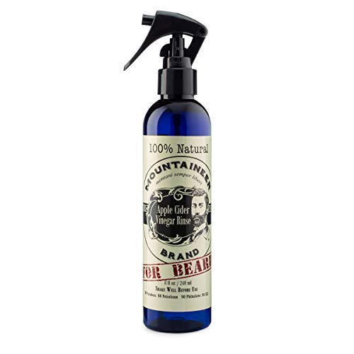 Mountaineer Brand Apple Cider Vinegar Hair Rinse 8oz by Mountaineer Brand   All-Natural Relief for Detox, Dandruff, Itching, Acne, Blemished Skin   Use on Hair, Beard, Scalp, and Face
