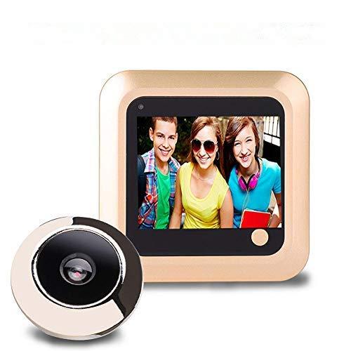 Visor Digital de Puerta LCD de 2,4 Pulgadas con Almacenamiento de Fotos Lente de 145 Grados Soporte de Tarjeta TF Visor electrónico de Puerta para Seguridad en el hogar