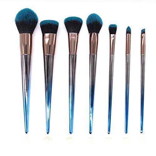 FGJPO Pinceaux À Maquillage Kit Complet De Pinceaux De Maquillage Professionnel Bleu Gris Couleur Cosmétique Beauté Maquillage Make Brush Set