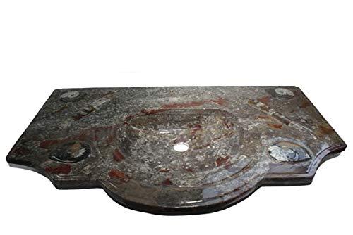 Waschtisch braun 100x60x12cm, pol.Ammoniten