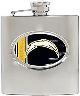 Great American Products NFL Stainless Steel Flask Metal Logo