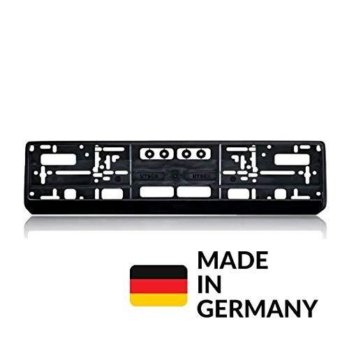 Generisch 2er Set DobFis Auto Kennzeichenhalter Schwarz, Nummernschildhalterung Auto, Nummernschildhalter
