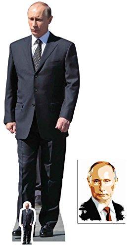Vladimir Putin Russischer Prasident Lebensgrosse und klein Pappfiguren / Stehplatzinhaber / Aufsteller - Enthält 8X10 (25X20Cm) starfoto