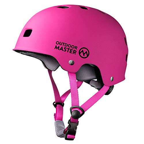%24 OFF! OutdoorMaster Skateboard Cycling Helmet - ASTM & CPSC Certified Two Removable Liners Ventil...