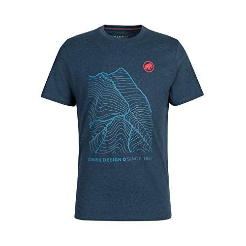 Mammut Herren Sloper T-Shirt, Marine Melange, L