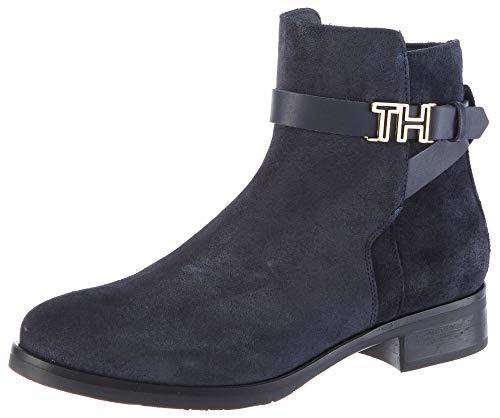 Tommy Hilfiger Damen TH Hardware Flat Bootie Stiefeletten, Blau (Midnight 403), 38 EU