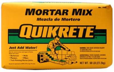 Quikrete 110260 Mortar Mix44; Blend of Masonry Cement & Graded Sands