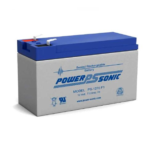 Bleiakku - Akku Powersonic PS 1270 - Powersonic PS1270 - Powersonic PS-1270 mit VdS Zulassung - 12V 7,0Ah - Rechargeable Sealed Lead Acid (SLA) Battery - AGM / Blei Vlies