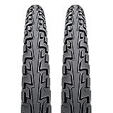 Continental Par de neumáticos para Bicicleta de Tour Ride, 700 x 42c, Color Negro