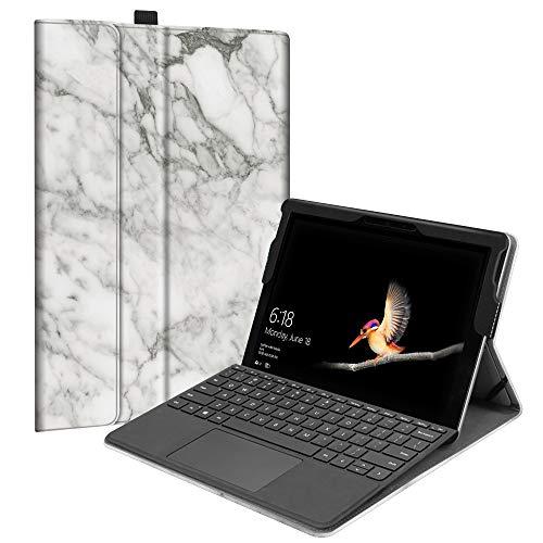 Fintie Hülle für Microsoft Surface Go - [Multi-Sichtwinkel] Hochwertige Kunstleder Schutzhülle Tasche Etui Cover Hülle mit Stylus-Halterung für Surface Go (10 Zoll) 2018 Tablet-PC, Marmor Muster