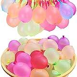 Wasserballons, Water Balloons, 111PCS Wasserbomben in 60Sekunden - selbstschließend ohne Knoten Wasserballons Kurzzeitig Füllen Kit (111PACK)