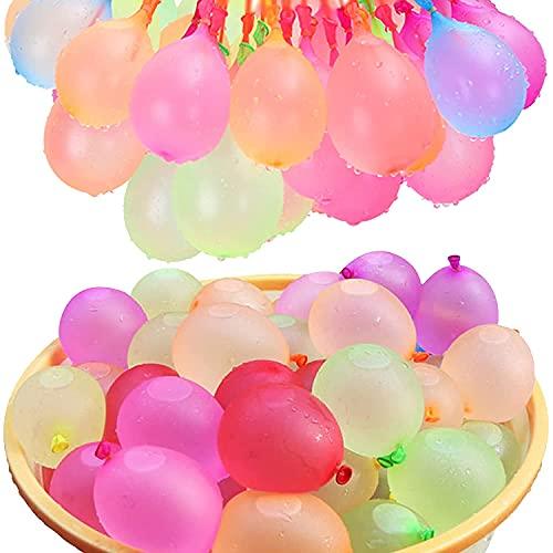 Wasserballons, Water Balloons, 222PCS Wasserbomben in 60Sekunden - selbstschließend ohne Knoten Wasserballons Kurzzeitig Füllen Kit (222PACK)