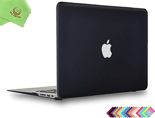 UESWILL Smooth Touch Matte Hard Shell Case Cover for 2009-2017 MacBook Air 13 inch (Model A1466/A1369), Black