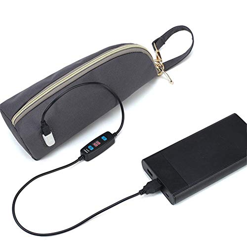 Dubleir Babyflasche Kühltasche, tragbare USB-Konstanttemperatur-Heizung Milchflasche Tasche, Babyzubehör für Baby Babyflasche Thermotaschen Babyflasche Reisetasche