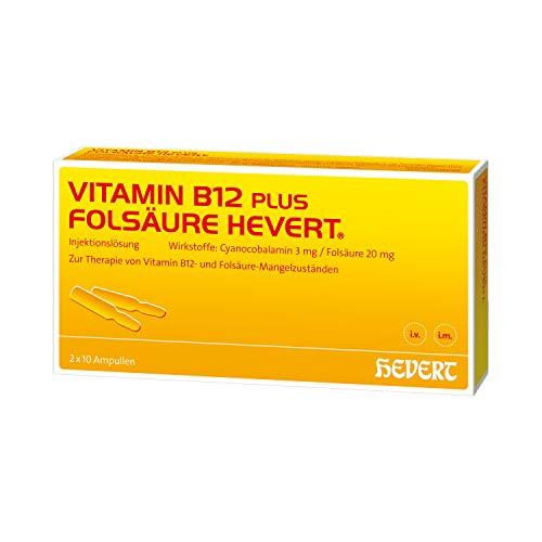 Vitamin B12 plus Folsäure Hevert Ampullen, 2x10 St. Ampullen