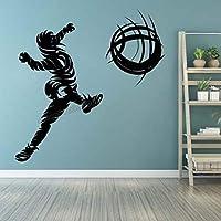 サッカーサッカーウォールステッカーサッカー選手ゴールファンボールマッチスタジアムチームプレイウォールステッカービニールデカール部屋の装飾壁画57X58cm
